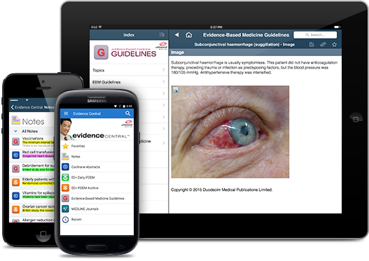 Evidence Central iOS iPhone iPad Android